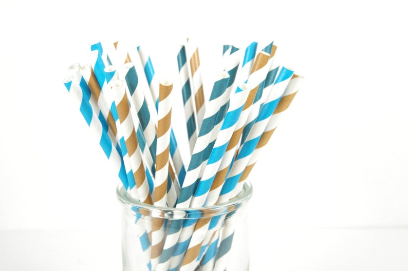 Cookie Monster Paper Straws  Set of 25 Straws  Birthday image 0