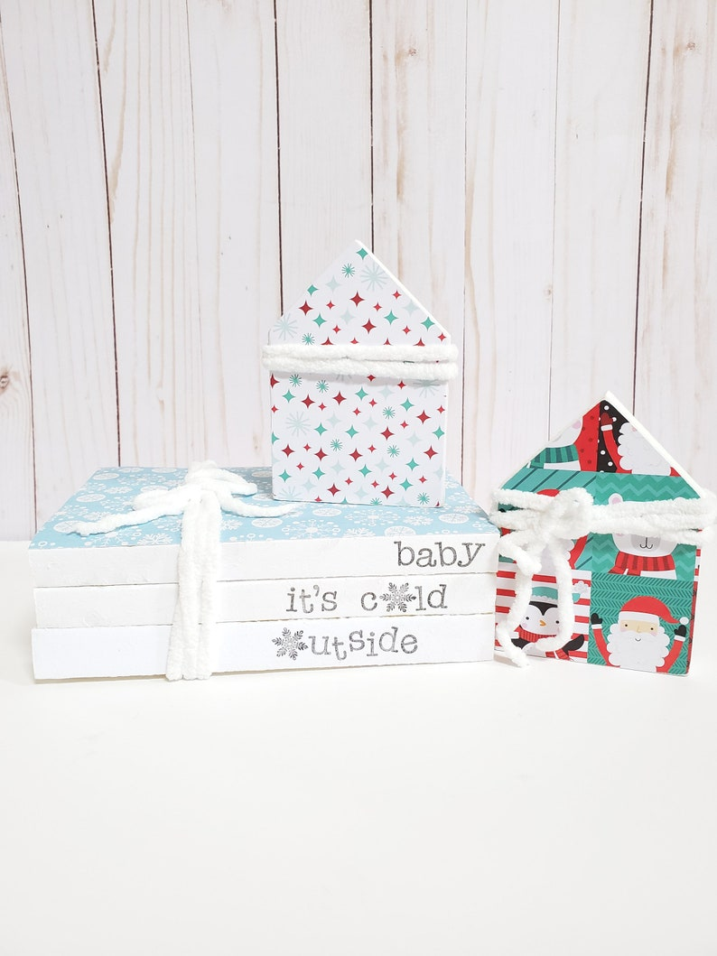 Baby It's Cold Outside Stamped Books  Christmas Winter image 0
