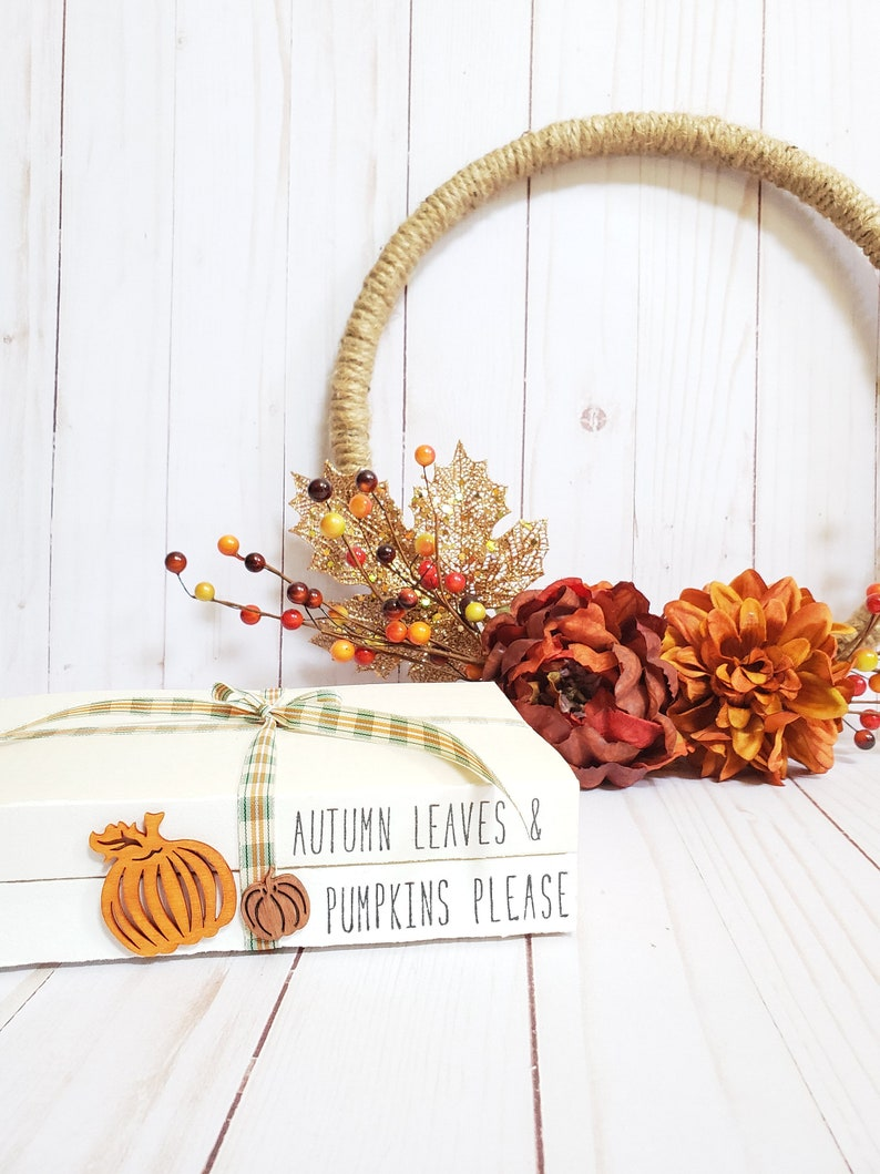 Autumn Leaves & Pumpkins Please Stamped Book Set  Fall Leaf image 0