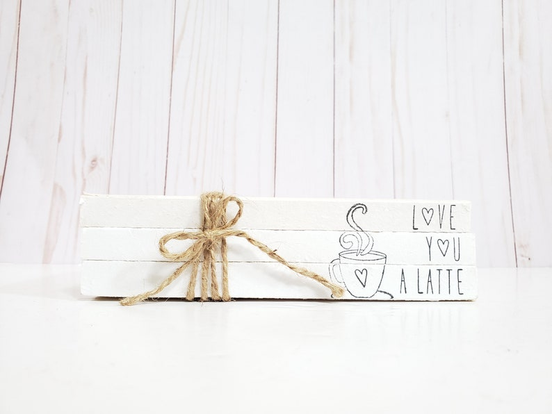 Love You a Latte Coffee Stamped Book Set  Paper Book Set  image 0