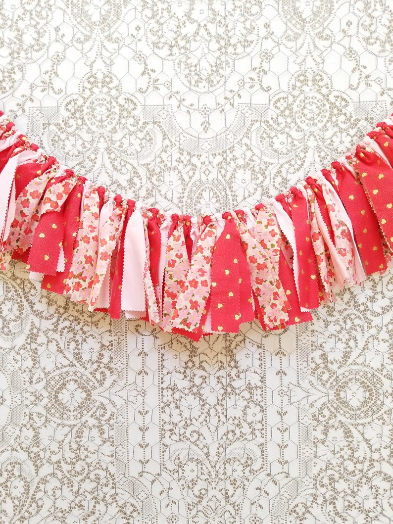 Coral Pink & Gold Valentine's Day Banner for Photoshoot image 0