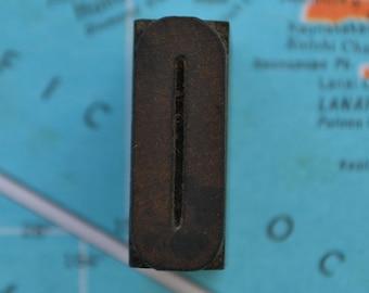 """Vintage Antique Letterpress Alphabet Wood Block 1"""" Letter Number O"""