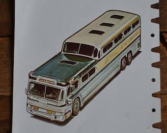 Peabody Articulation Educational Vintage Flashcard - City Bus