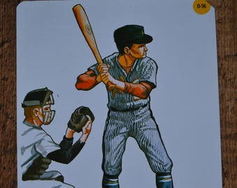 Peabody Language Development Vintage Flashcard Card - Sports Baseball Batter