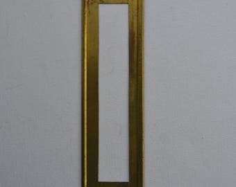 Vintage Industrial Reeses Adjustable Lockedge Brass Stencil - Letter / Number - L or 1