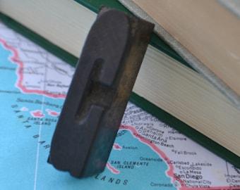 "Antique Vintage Letterpress Type Printingmaking Wood Wooden 2"" Letter G"