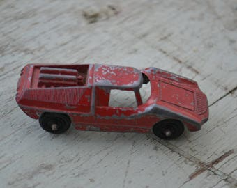 Tootsie Toy Collectible Vintage Red Metal Miniature Fiat Car