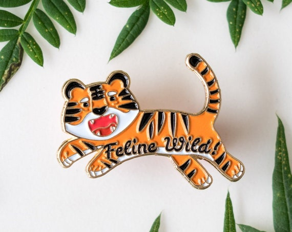 CHARITY SALE** Feline Wild Tiger Enamel / Lapel Pin