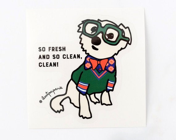 NEW** Clear Vinyl So Fresh and So Clean Clean Sparky Single Sticker