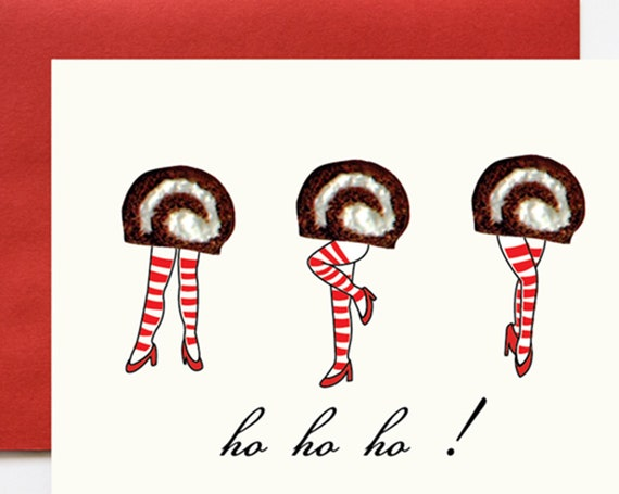 Ho Ho Ho Donuts Christmas A2 Greeting Card