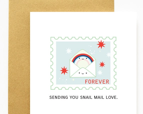 Forever Sending Snail Mail Love A2 Greeting Card