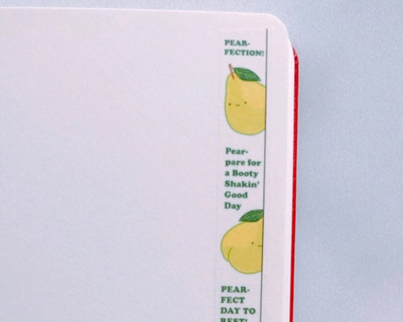 Pear-fection Vertical Washi Tape, Pattern Paper Tape, Gift Wrap, Stocking Stuffer, Journal, Planner, Holiday, Gifts