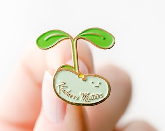 NEW** Kindness Matters Plant Sprout Enamel / Lapel Pin