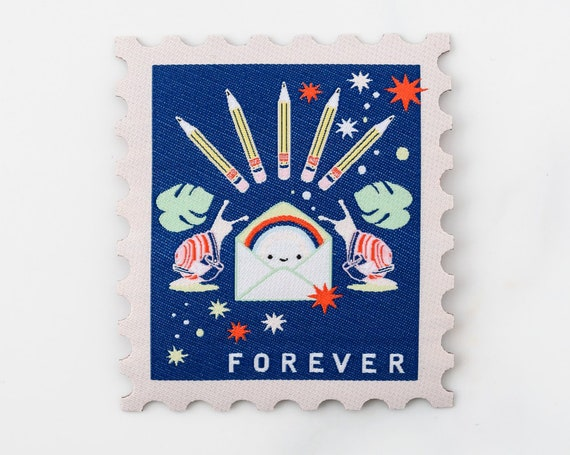 NEW ** Snail Mail Bonanza Forever Stamp Woven Iron On Patch