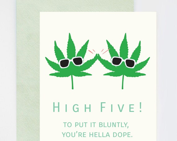Social Distancing High Five You're Hella Dope Punny Congratulations Card