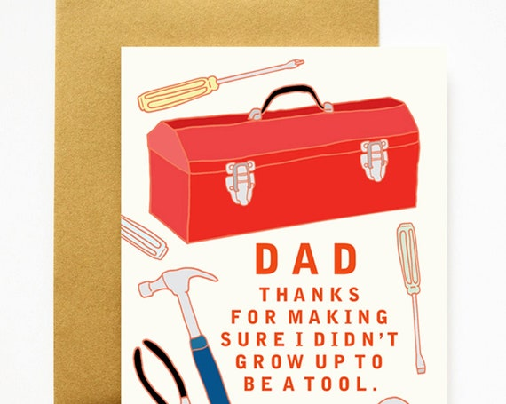 Tool Box Thanks Dad Father's Day Dad's Birthday Card