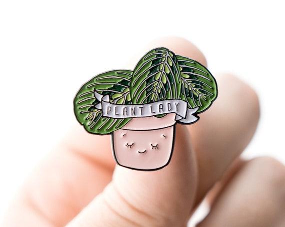 NEW** Plant Lady Prayer Plant Enamel / Lapel Pin