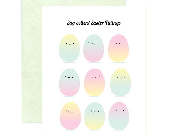 Egg-cellent Easter Tidings Greeting Card