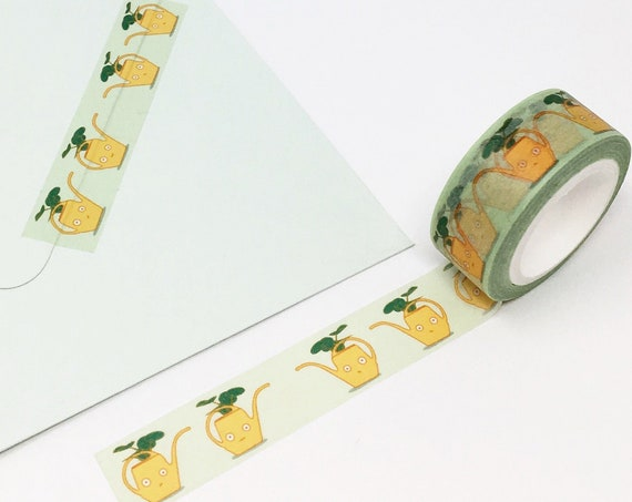 Yellow Vintage Watering Can Washi Tape