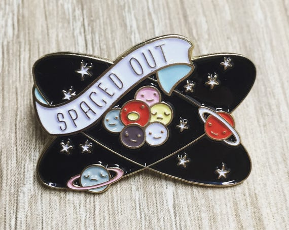 NEW** Spaced Out Planets and Atoms Enamel / Lapel Pin