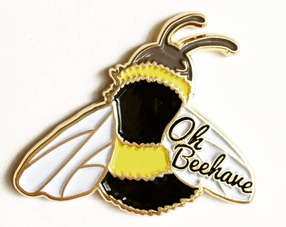 NEW ** Oh Beehave Bumble Bee Enamel / Lapel Pin