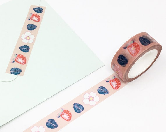 Sweet Strawberry and Strawberry Flower Washi Tape