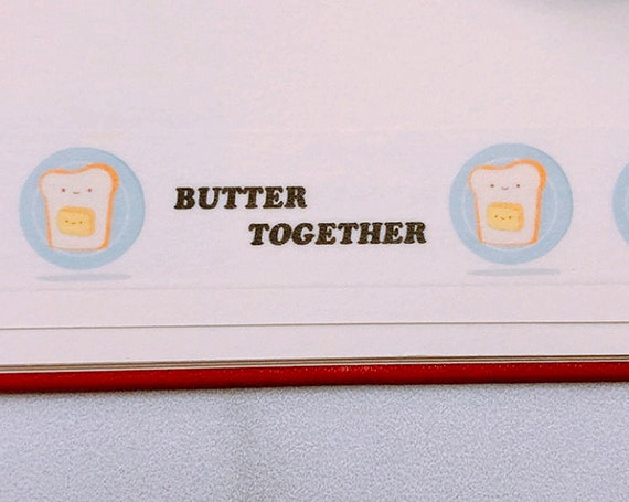 Butter Together Washi Tape, Pattern Paper Tape, Gift Wrap, Stocking Stuffer, Journal, Planner, Holiday, Gifts