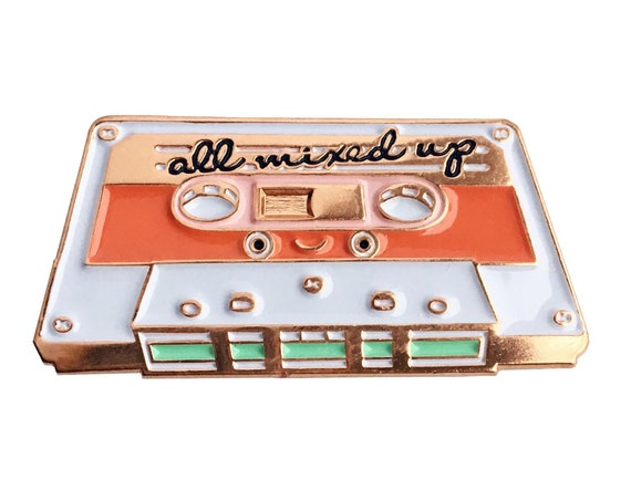 NEW** All Mixed Up Nostalgic 80s Mixtape Enamel / Lapel Pin