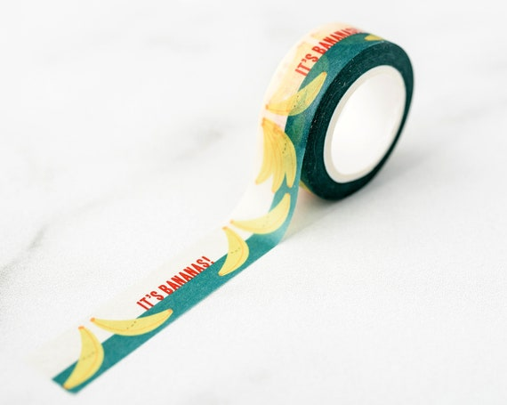 NEW** It's Bananas! Washi Tape, Pattern Paper Tape, Gift Wrap, Stocking Stuffer, Kawaii Tape, Journal, Planner, Holiday, Gifts