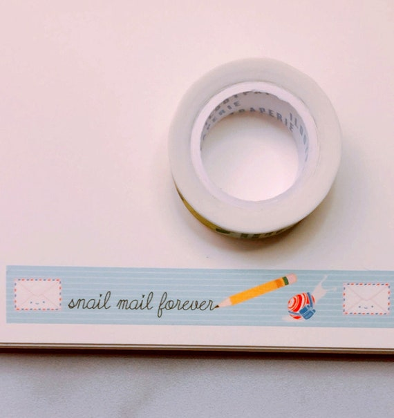Snail Mail Forever Lined Washi Tape, Pattern Paper Tape, Gift Wrap, Stocking Stuffer, Journal, Planner, Holiday, Gifts