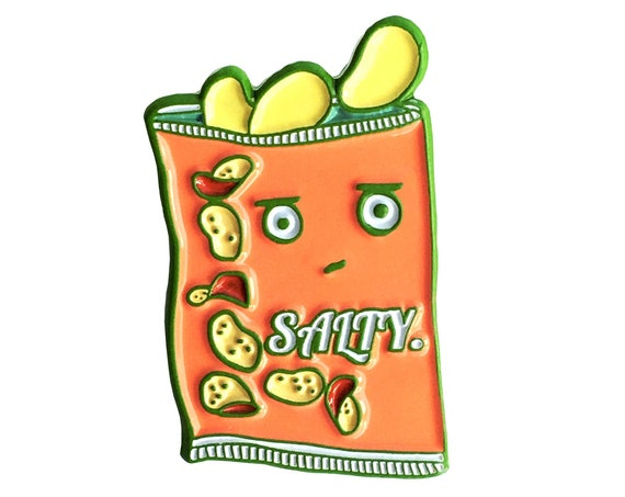 NEW** Salty Bag of Chips Soft Enamel / Lapel Pin