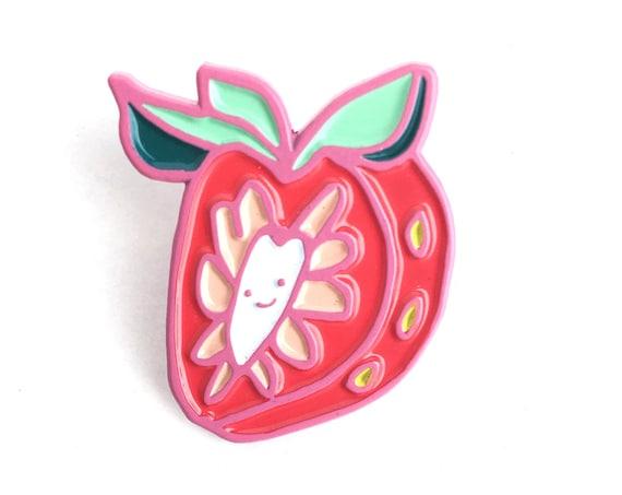 NEW** Kawaii Strawberry Soft Enamel / Lapel Pin