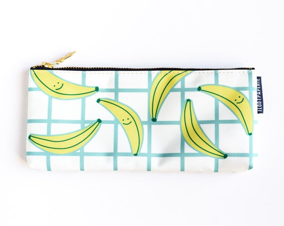 Happy Bananas! Pencil Pouch / Make Up Bag