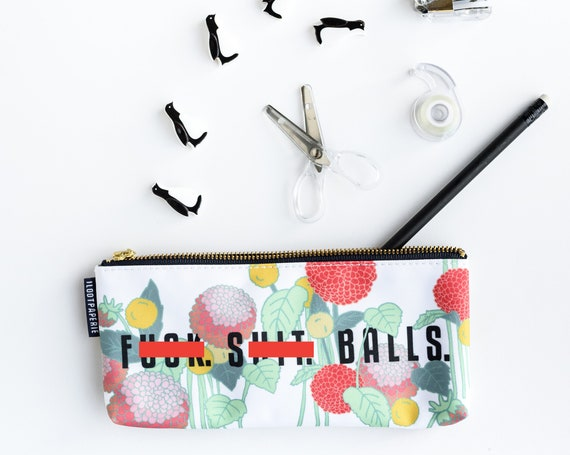F%*}+. S#@*. Balls. Pouch / Make Up Bag