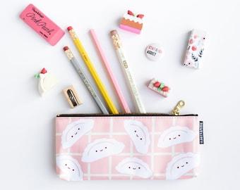 Happy Dumplings Pencil Pouch / Make Up Bag