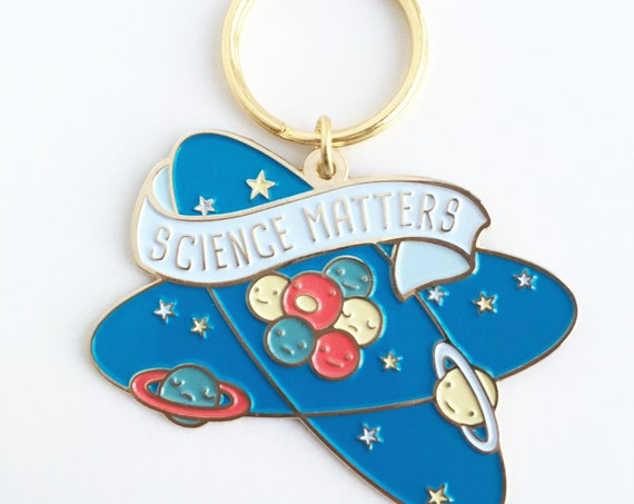 NEW! Science Matters Soft Enamel Keychain