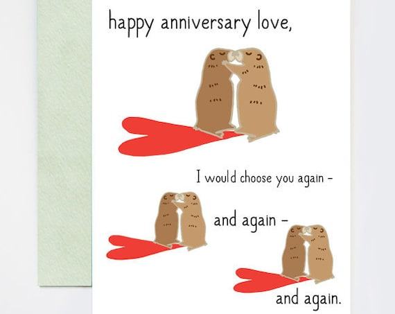 Groundhog Day Happy Anniversary Love Greeting Card