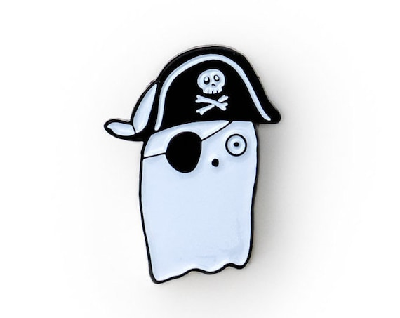 NEW** Pirate Booo-ty Booty Ghost Enamel / Lapel Pin
