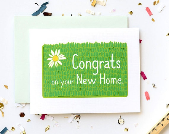 New Home Welcome Mat Congrats Housewarming Greeting Card