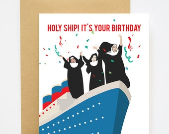 Holy Ship Its Your Birthday Card