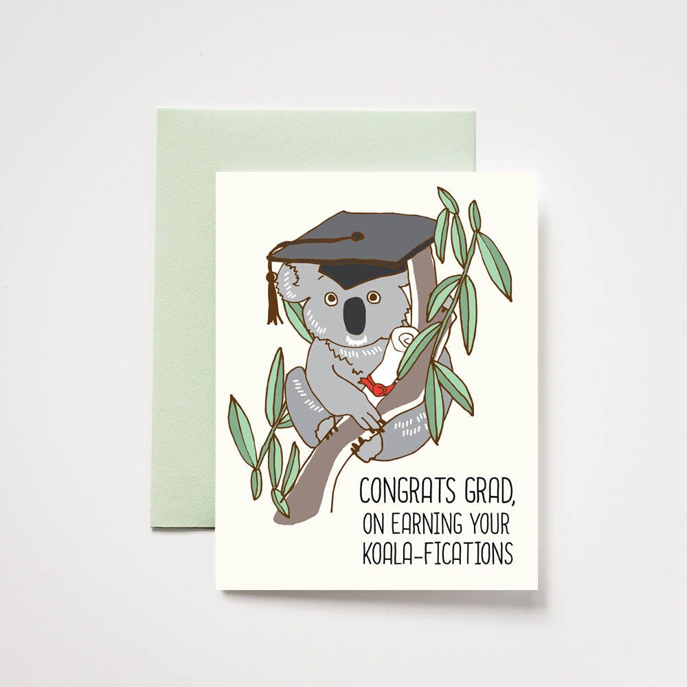 Koala Graduation Congrats Grad Greeting Card
