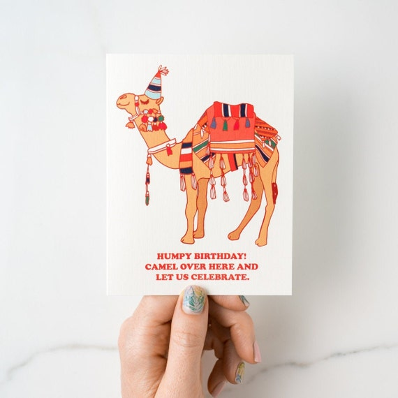 Humpy Birthday! Camel Over Punny Birthday Greeting Card