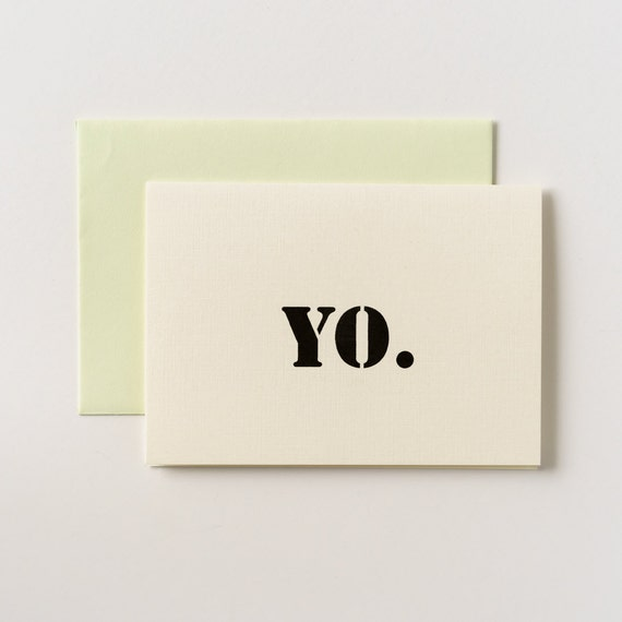 Yo You've Been Carded Greeting Card