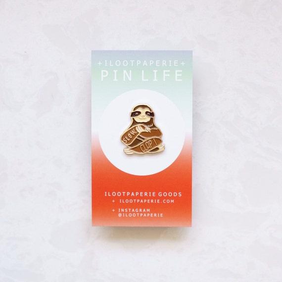 Slow Clap Sloth Enamel / Lapel Pin