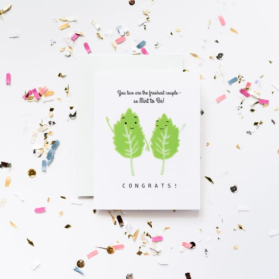 Mint to Be Wedding Greeting Card