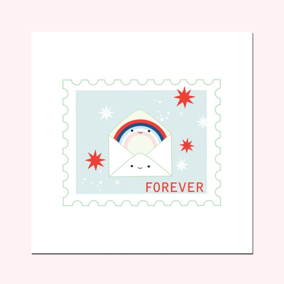 Forever Snail Mail Stamp Giclée Art Print