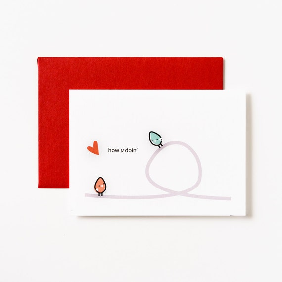 How U Doin' Birdies Love Greeting Card