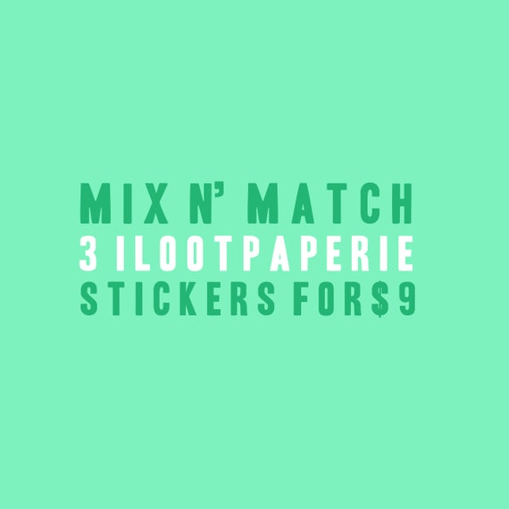 Mix 'n Match Stickers - Set of 3