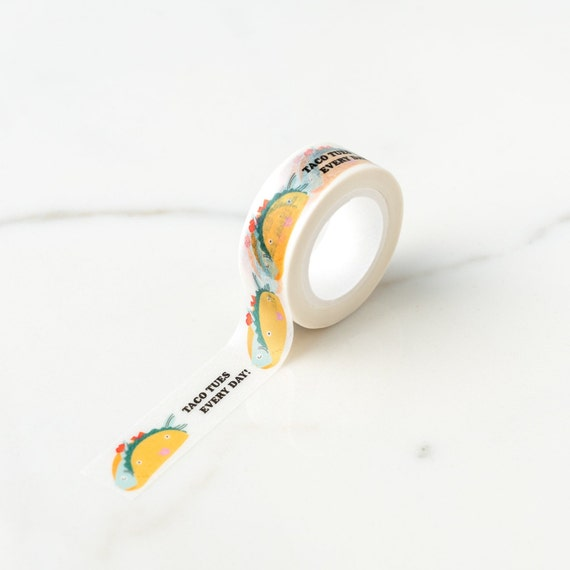 "Taco Tuesday Fish Taco ""Taco Tues Every Day"" Washi Tape"