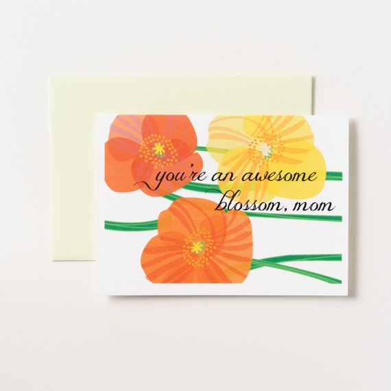 Awesome Blossom Mother's Day Greeting Card